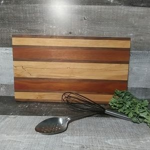 Artisan crafted solid hardwood cutting board